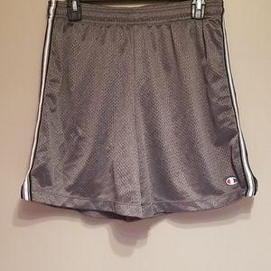 Champion gray mesh athletic shorts
